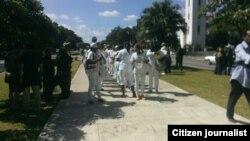 Reporta Cuba. Reporteros, activistas y Damas marcharon por 5ta. Ave. antes del arresto.