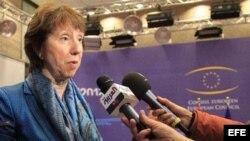 La jefa de la diplomacia de la Unión Europea, Catherine Ashton.
