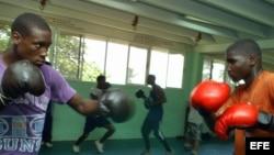 Boxeadores cubanos en el Centro de Alto Rendimiento Giraldo Córdova Cardín, al este de La Habana. Archivo.