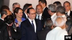 Llegada de François Hollande a La Habana, la primera visita oficial de un Jefe de Estado francés a la isla.