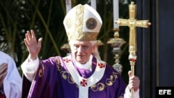 El papa Benedicto XVI en La Habana, Cuba. EFE/David Fernández