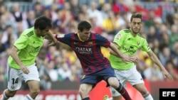 El delantero argentino del FC Barcelona Lionel Messi en acción.