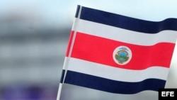 La bandera de Costa Rica.