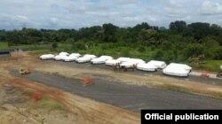 Campamento de Migrantes en el Darién. Foto Oficial.