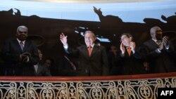 El general Raúl Castro en el Gran Teatro de La Habana.