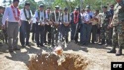 Bolivia.Evo Morales (ci) en Ichoa