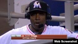 Barry Bonds, exentrenador de bateo de los Marlins de Miami.
