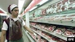 Carnes de un supermercado