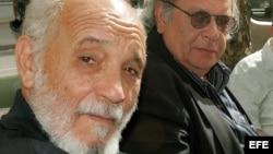 El poeta cubano Rafael Alcides (primero de la izquierda)