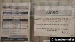 Reporta Cuba. ETECSA, cambios de horarios. Foto: Serafín Morán.