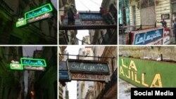 Restauración del cartel del Bar LaFayette. Foto Facebook Habana Light Neon + Signs