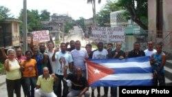 Activistas de derechos humanos en Santiago de Cuba