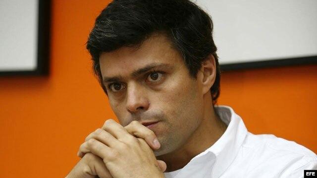 Leopoldo López, dirigente opositor venezolano y preso desde febrero de 2013, acusado de ser autor intelectual de las protestas iniciadas por los estudiantes contra Nicolás Maduro y que concluyeron con la muerte de varias personas.