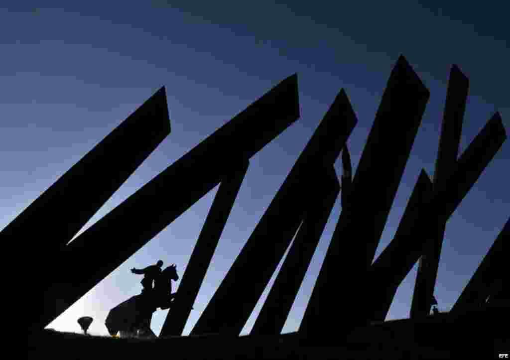 Plaza de la Revolución en Santiago de Cuba, donde Benedicto XVI oficiará una misa.