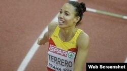 """Indira Terrero, la velocista cubana """"que iba corriendo a la escuela""""."""