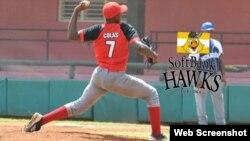 El pelotero cubano Oscar Luis Colás.