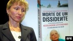 Marina Litvinenko, viuda de Alexander Litvinenko, durante la presentación de su libro 'Muerte de un disidente'.
