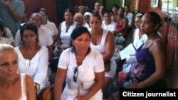 Taller sobre DDHH que realizaron activistas de UNPACU junto a las Damas de Blanco