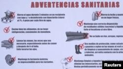 Advertencia sobre los casos de cólera en Cuba y las medidas a tomar.
