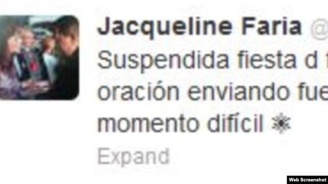 twitter de @JacquelinePSUV