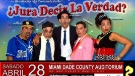 Actores del programa televisivo cubano ¿Jura decir la verdad?