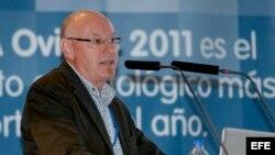 Fotografía de archivo del Dr. Paul Sharpe, durante su intervención en la XLV Reunión Anual de la Sociedad Española de Periodoncia y Osteointegración (SEPA), en Oviedo, España.