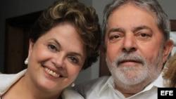 Luiz Inácio Lula da Silva y Dilma Rousseff. Foto Archivo