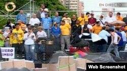 Marcha en Veenzuela imágenes reportadas por Globo Visicón