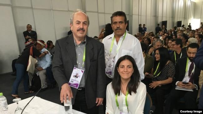 La opositora Rosa María Payá asiste a Foro de actores sociales en la Cumbre de Lima, Perú