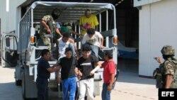 Centroamericanos indocumentados deportados de México. Archivo.