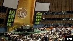 Una votación en la Asamblea General de las Naciones Unidas sobre el fin del embargo.
