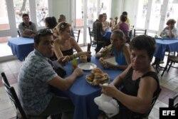 Una cafetería de Santa Clara (Cuba)