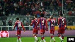 Jugadores del Bayern Munich.