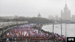 Homenaje a Boris Nemtsov en ciudades rusas