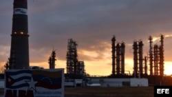 Refinería de petróleo Camilo Cienfuegos, en Cienfuegos, Cuba. Archivo.