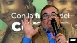 El candidato presidencial por la Fuerza Alternativa Revolucionaria del Común, Rodrigo Londoño, también conocido como Timochenko.