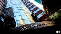 Vista de un edificio de la aseguradora American Internacional Group (AIG) en Nueva York, Estados Unidos