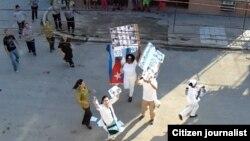 Cuba represión contra Damas de Blanco Habana Foto de Angel Moya