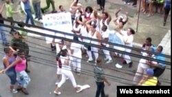 Informe semanal de represión a damas de blanco en Cuba