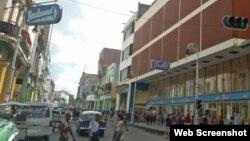 Reporta Cuba. Calle San Rafael y Galiano.