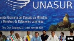 Encuentro de cancilleres de la Unión de Naciones Suramericanas (Unasur), en la isla Santa Cruz, Archipiélago de Galápagos (Ecuador).