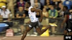 Fotografía de archivo del jamaicano Usain Bolt (i). EFE/YORICK