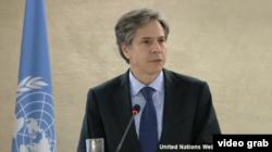 El secretario de Estado adjunto de EEUU, Antony Blinken, durante su intervención en la ONU.