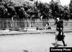 Holodomor en Ucrania, cadáveres en las calles.