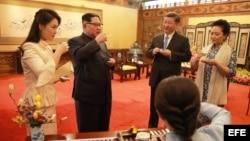 La inesperado reunión en Beijing entre el líder del Corea del Norte, Kim Jung Un, y el presidente de China, Xi Jinping.