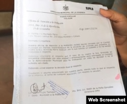 Dilación, irregularidades y desidia estatal denuncian Erminda Parra y su hija desde Holguín.