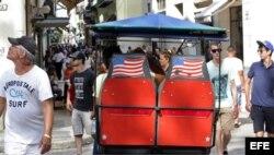 Turistas estadounidenses en La Habana.
