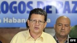 """""""Pablo Catatumbo"""" (Jorge Torres Victoria), miembro de las FARC, en La Habana (18 de noviembre, 2014)."""