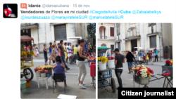 Reporta Cuba. Vendedores de flores. Foto: @idaniacubana.