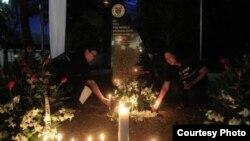 Homenaje a periodista fallecido en Filipinas